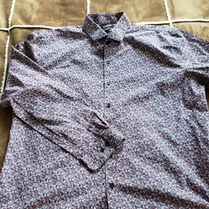 Express modern fit floral shirt